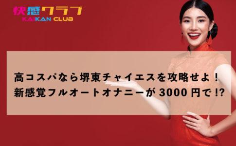 高コスパなら堺東チャイエスを攻略せよ!新感覚フルオートオナニーが3000円で!?